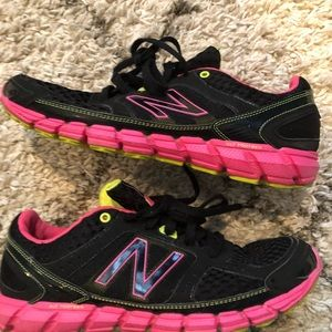 New balance black and pink sneakers